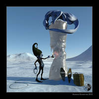 How to capture an ice dragon! :-) by arteandreas