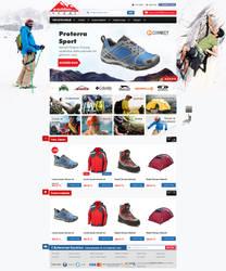 Outdoor e-commerce web design by accelerator