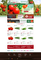 vegetables web design by accelerator