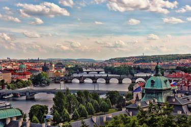 Moldau (Vltava) in Prague by h3design
