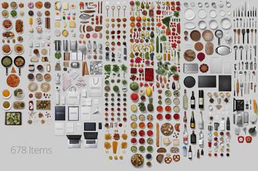 Kitchen Scene Generator - All items by h3design