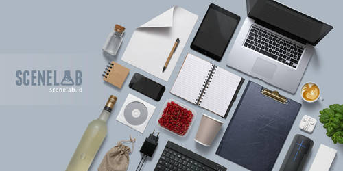 Create Flatlays with SceneLab by h3design