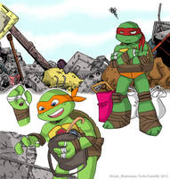 Happy Scavenging! (Mikey and Raph) by TurboTails06