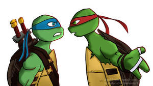 Brothers Arguing (Leo and Raph) by TurboTails06