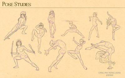 Pose Studies_01 by janegreentea