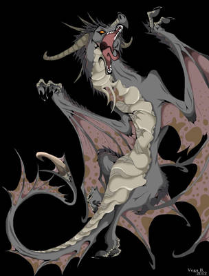 grey Dragon by VegaBone