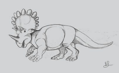 Regaliceratops sketch by mythrilflare