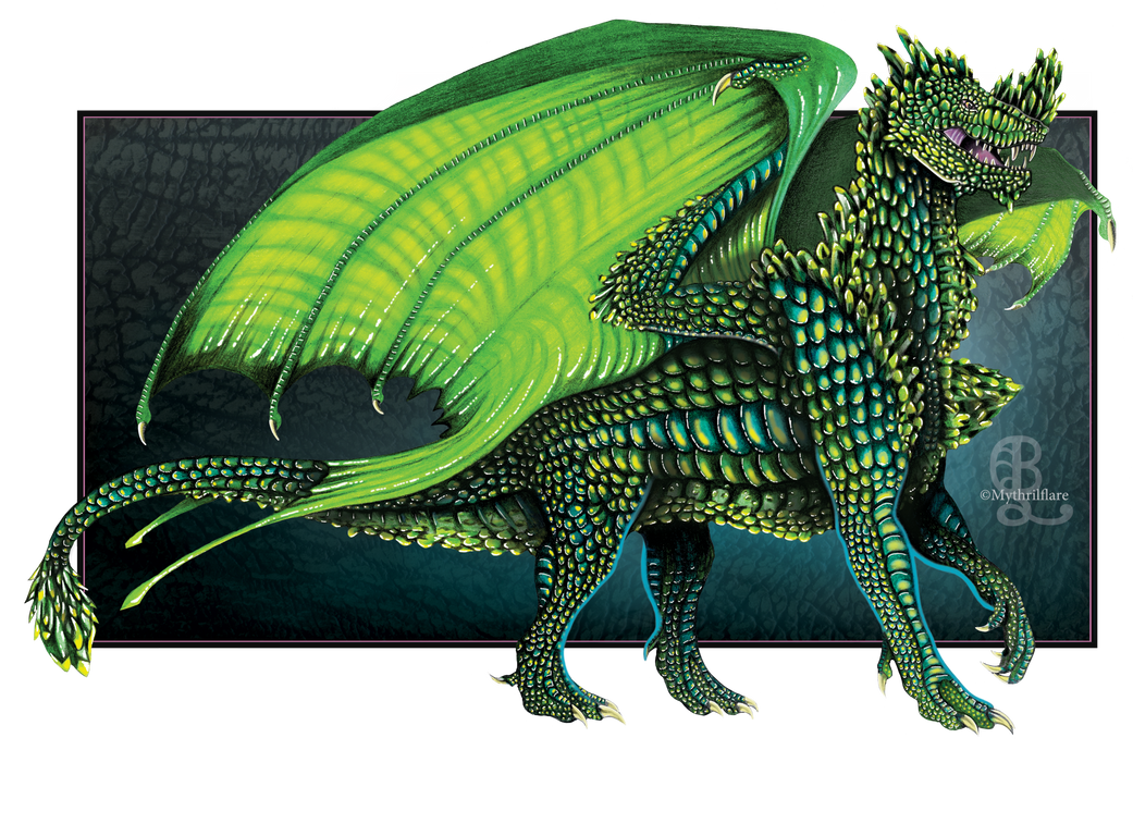 Emerald Queen Dragon by mythrilflare