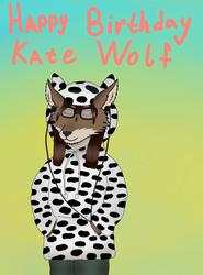 Happy Birthday KateWolf by SkiffleTheVolflock