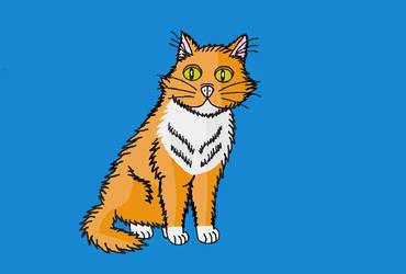MS Paint XP Cat by SkiffleTheVolflock