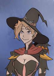 Mercy: halloween by papaku320
