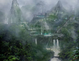Concept Art: Maya City by Gycinn