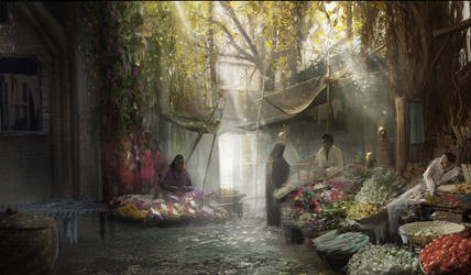 Concept Art : Oriental Market by Gycinn