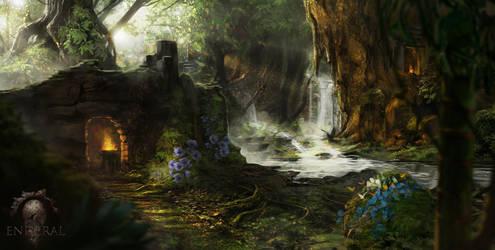 Skyrim Mod : Enderal - Ruins of silvergrove by Gycinn