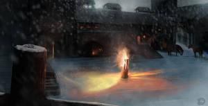 Game of Thrones - Castle Black by Gycinn