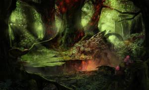 Concepting a mystery jungle by Gycinn