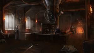 Concepting an old tavern by Gycinn