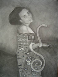 Self-portrait based on Klimt by thesilentsidhe