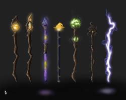 Staff design concepts by XavierSkywalker