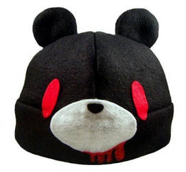 Black Gloomy Bear Beanie by SuperMariko