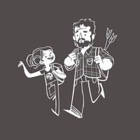 Joel and Ellie - Cartoon Version by AcerSense