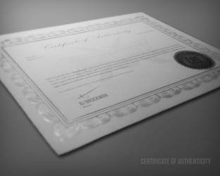Certificate of Authenticity by SingleHandedStudio