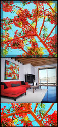 Poinciana Paradise : VectorArt by SingleHandedStudio