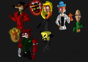 random crash bandicoot characters by DSA09
