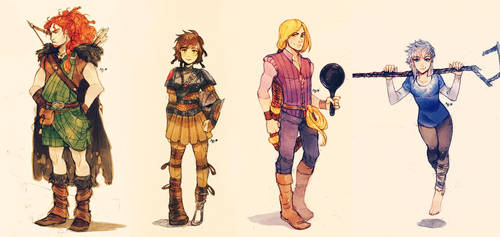 BIG FOUR GENDERBENDS by MabyMin