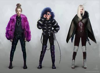Cyberpunk ladies by ojadano