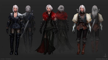 Witcher 3 / Ciri Redesign by ojadano