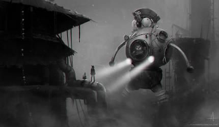 some weird alien spaceship by ojadano