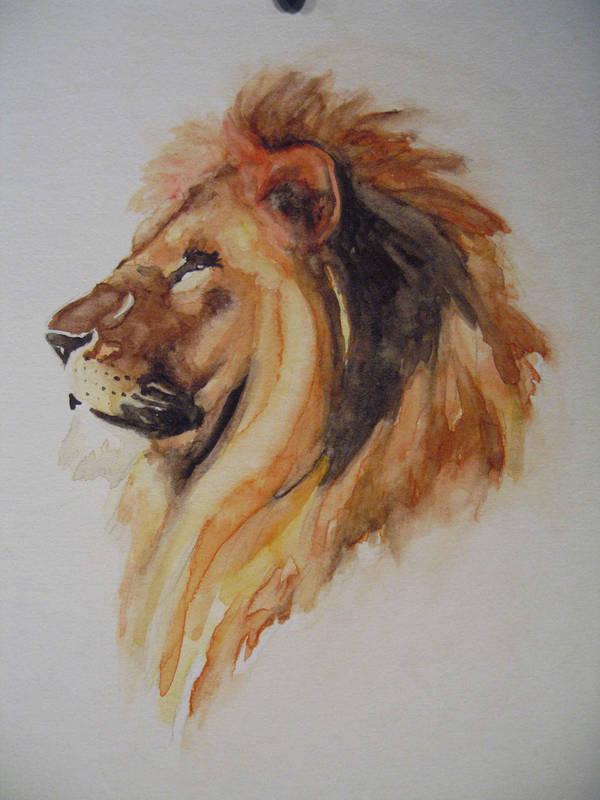watercolor lion by paper-Panda