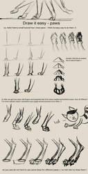 draw it easy - paws by IamSKETCHcat