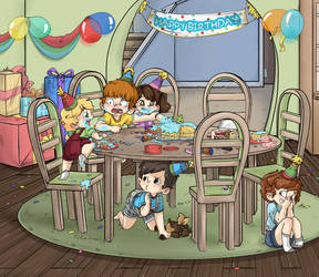 Louey's Birthday Party by applehead302