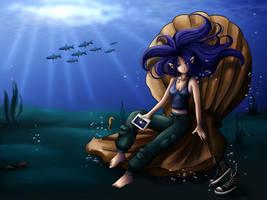 Celeste underwater commission by Bastet-sama