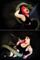 Gothica vs Snake cosplay by Bastet-sama