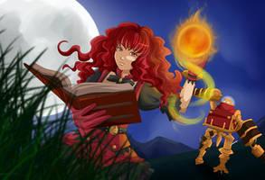 Cherlyn and the Treasure Golem by Bastet-sama