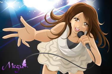 Megu is singing by Bastet-sama