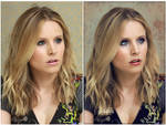 Before and After : Kristen Bell Retouch by HayleyGuinevere