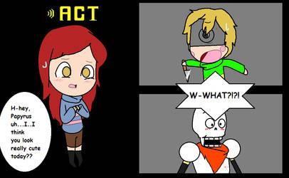 NewScapePro Undertale- ACT: Flirt by dawnbuneary