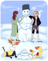 TP: What happened to the snowman? by SnowAngelRika
