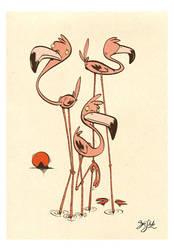 Flamingos by Themrock