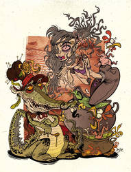 Jillyan and Voodoo Croc by Themrock