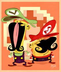 Jumpman 'n King of 2nd Bananas by Themrock
