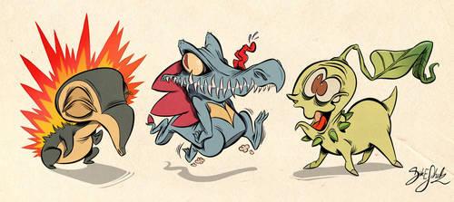 Pokemon Starter 2nd Gen by Themrock