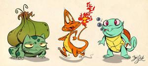 Pokemon Starter 1st Gen by Themrock