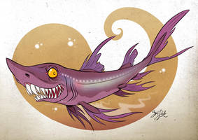 Shark 17 - Belly Lantern Shark by Themrock