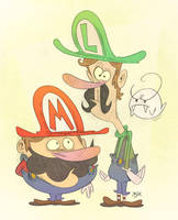 Mario and Luigi Superstars by Themrock