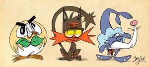 Pokemon Starter 7th Gen by Themrock